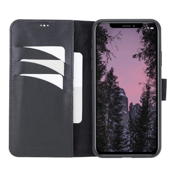 iPhone 11 Pro Max – Detachable wallet case – Burcht Trecht Black