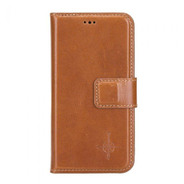 iPhone 12 Mini – Detachable wallet case – Burcht Trecht Cognac