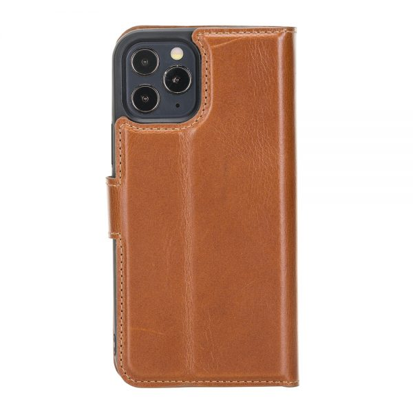 iPhone 12 / 12 Pro – Detachable wallet case – Burcht Trecht Cognac
