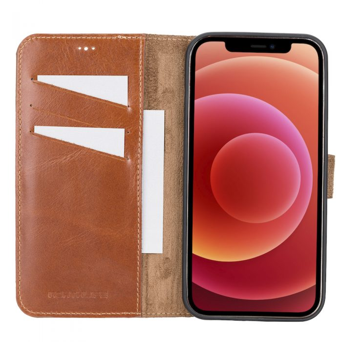 iPhone 12 Pro Max – Detachable wallet case – Burcht Trecht Cognac